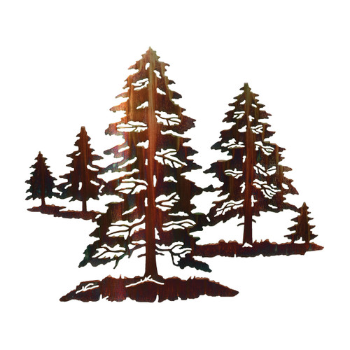 Forest Hues Metal Wall Art - Small
