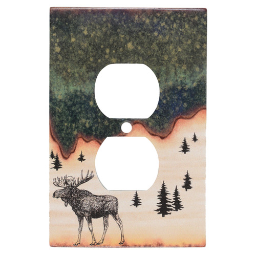 Forest Moose  Outlet Cover