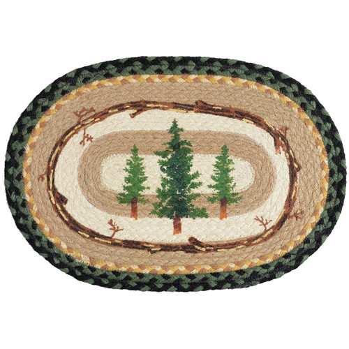Forest Pines Braided Oval Placemat
