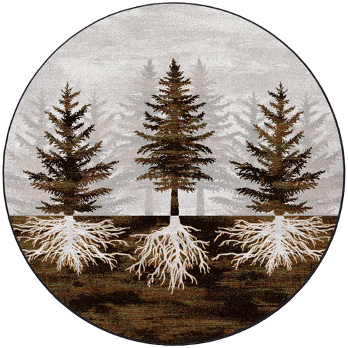 Forest Roots Rug - 8 Ft. Round