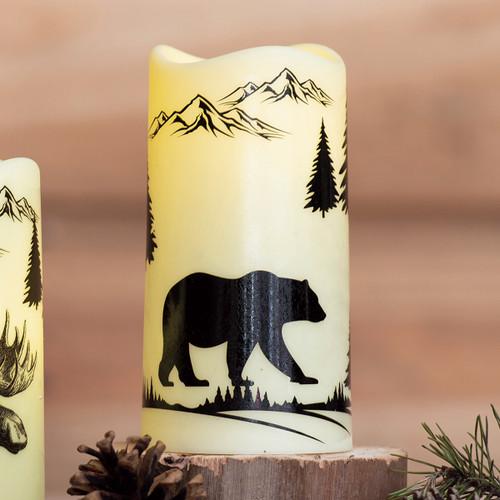 Forest Wildlife Bear LED Candle