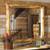 Elk Antler Aspen Log Mirror