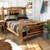 Aspen Creek Log Bear Bed - Queen