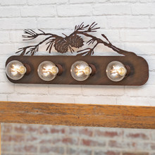 Pinecone Pass Metal Vanity Lights
