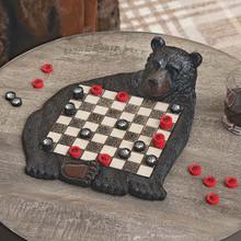 Black Bear Checkerboard Set