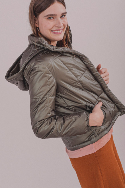 CAMPERA PUFFER SAFARI METALIZADO - LEM-389105