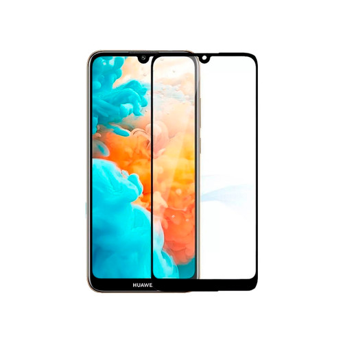 Film templado 9D Huawei P Smart 2019 borde color negro - CEL-FILMPS199D