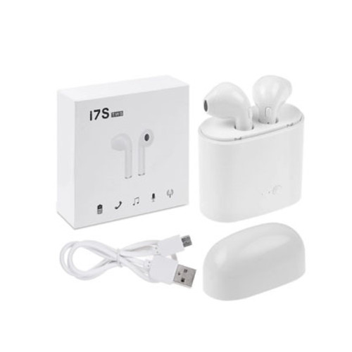 Auriculares Bluetooth I7S/TWS color blanco - CEL-I7STWS