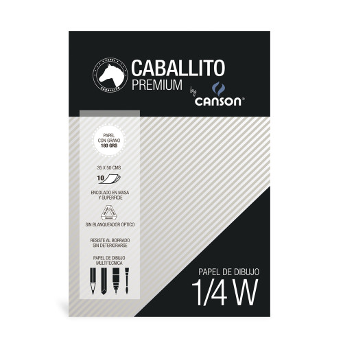 Block Caballito & Canson 1/4 W 180 Grs 10 Hojas - MOS-2382912