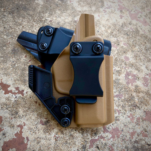 Davis AIWB holsters in black and coyote brown for the Sig P365.