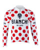 Bianchi Pride Long Sleeve Jersey, White Polka Dot