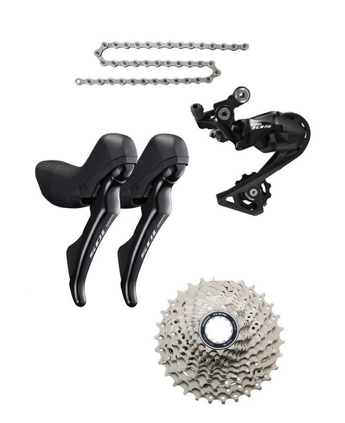 Shimano 105 R7020 STI 4 piece Conversion Kit, Black