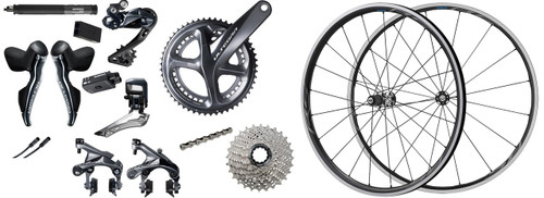 Shimano Ultegra R8050 Di2 Groupset with Shimano Ultegra RS700 C30 Wheelset