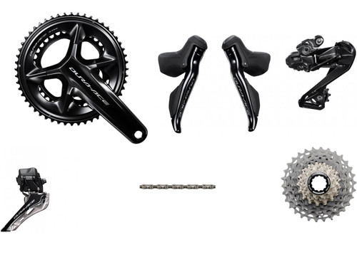 Dura-Ace-Di2-R9250-without-Power-Meter-Groupset-2x12 - Less Calipers