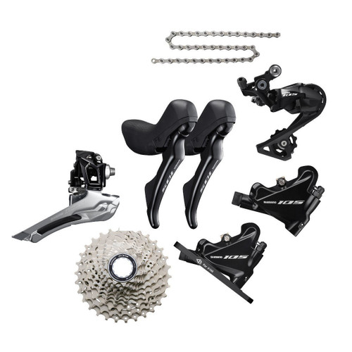 Shimano 105 R7020 STI 6 Piece Upgrade Kit, black