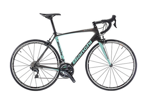 Bianchi C2C Infinito CV Shimano Di2 equipped Carbon Bicycle, Black & Celeste Green