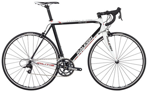 Raleigh Militis Shimano Di2 equipped Carbon Bicycle, Black & White - Build It Your Way