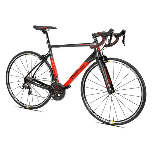Van Dessel Motivus Maximus Campagnolo Ergo equipped Carbon Bicycle, Red / Black - Build It Your Way