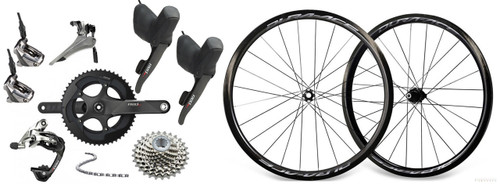SRAM RED 22 Hydraulic Groupset with Shimano Dura-Ace R9170 C40 Wheelset