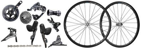 SRAM Force 22 Hydraulic Groupset with a Shimano Ultegra RS770 C30 Wheelset