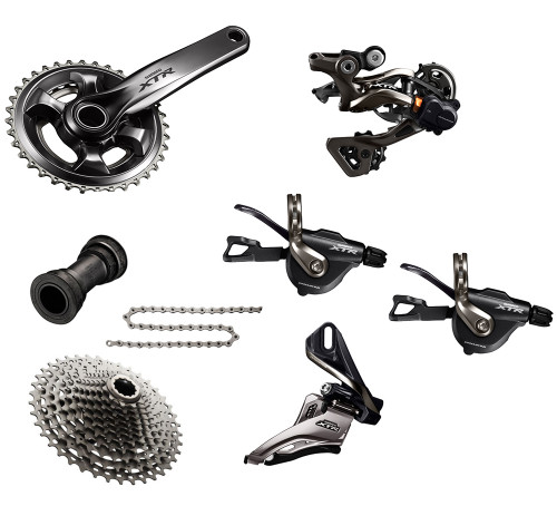 Shimano XTR 9000 Groupset with M9020 Chainrings   Trail (less brake levers & calipers)