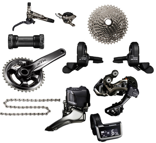 Shimano XTR 9050 Di2 Groupset with M9000 Chainrings   Race