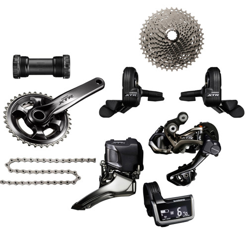 Shimano XTR 9050 Di2 Groupset with M9020 Chainrings   Trail (less brake levers & calipers)