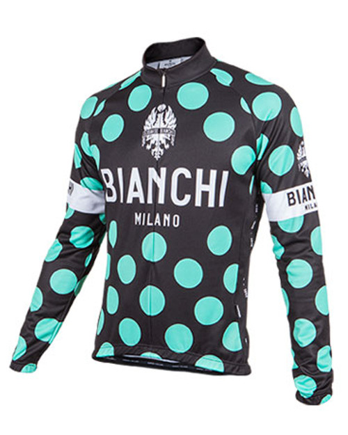 Bianchi Pride Long Sleeve Jersey, Black Polka Dot