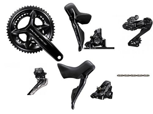 Shimano Dura-Ace R9270 Hydraulic Di2 Groupset (less cassette) - without power meter