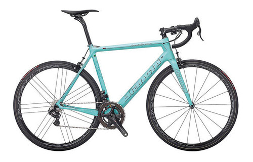 Bianchi Specialissima Shimano STI equipped Carbon Bicycle, Gloss Celeste Green - Build It Your Way