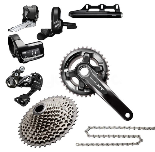 Shimano XT 8050 Di2 Groupset with M8000 Chainrings (less brake levers & calipers)