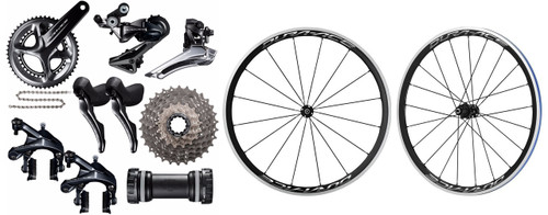 Shimano Dura-Ace R9100 STI Groupset with Shimano Dura-Ace R9100 C40 Wheelset