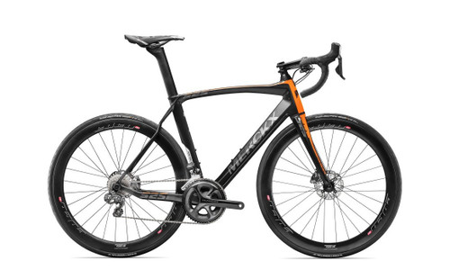 Texas Cyclesport Eddy Merckx 525 Endurance Disc Shimano Di2 Equipped Carbon Bicycle Black Anthracite Orange Satin Accents Build It Your Way Em 525ed Sda Di2 Bko 6699 99 New
