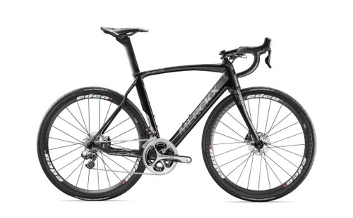 Eddy Merckx 525 Endurance Disc SRAM 22 equipped Carbon Bicycle, Black Anthracite & Silver Satin - Build It Your Way