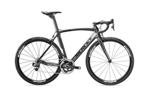 Eddy Merckx 525 Performance SRAM eTap equipped Carbon Bicycle, Black Anthracite & Silver Satin - Build It Your Way