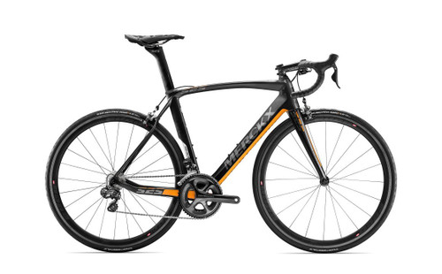 Eddy Merckx 525 Performance SRAM eTap equipped Carbon Bicycle, Black Anthracite & Orange Satin Accents - Build It Your Way