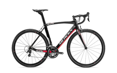 Eddy Merckx 525 Performance SRAM eTap equipped Carbon Bicycle, Black Anthracite & Red Gloss Accents - Build It Your Way