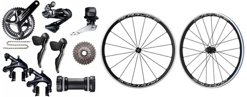 Shimano Dura-Ace R9150 Di2 Groupset with Shimano Dura-Ace R9100 C40 Wheelset
