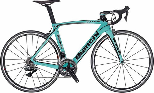 Bianchi Oltre XR.4 Shimano Di2 equipped Carbon Bicycle, Gloss Celeste Green - Build It Your Way
