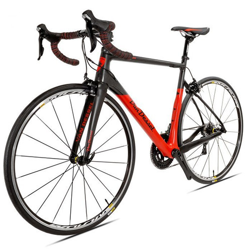 Van Dessel Motivus Maximus Disc Shimano Di2 equipped Carbon Bicycle, Red / Black - Build It Your Way