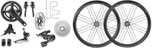 Campagnolo Record Hydraulic Ergo 12 Speed Groupset with a Bora WTO 45 Disc-brake Wheelset