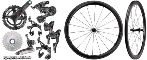 Campagnolo Super Record Rim Ergo 12 Speed Groupset with Bora WTO 45 Wheelset