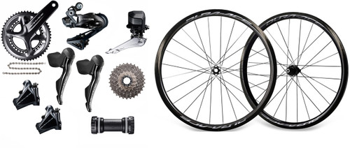 Shimano Dura-Ace R9170 Di2 Groupset with Shimano Dura-Ace R9170 C40 Wheelset