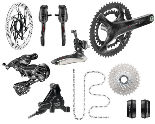 Campagnolo H12 Hydraulic Flat Mount Ergo 12 Speed Road Bike Build Kit