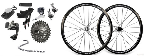 SRAM RED eTap Hydraulic Groupset with Shimano Dura-Ace R9170 C40 Wheelset