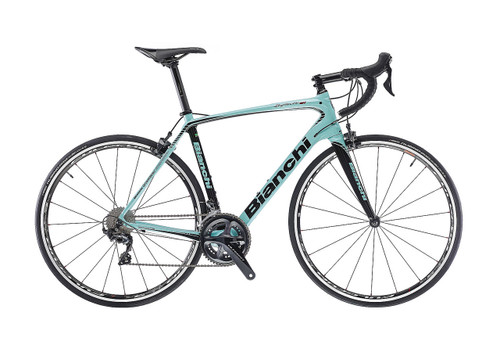 Bianchi C2C Infinito CV Campagnolo Ergo equipped Carbon Bicycle, Celeste Green