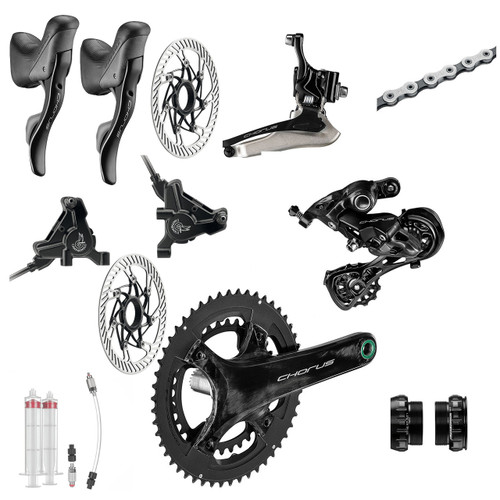 Campagnolo Chorus Hydraulic Flat Mount Ergo 12 Speed Groupset (less cassette)