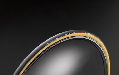 Vredestein Fortezza Senso Superiore Clincher Tire, Black / Gum, Top View