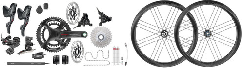 Campagnolo Super Record Hydraulic Flat Mount EPS 12 Speed Groupset with Bora WTO 45 Disc-brake Wheelset
