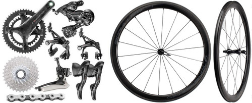 Campagnolo Super Record EPS V4 12 Speed Groupset with Bora WTO 45 Wheelset